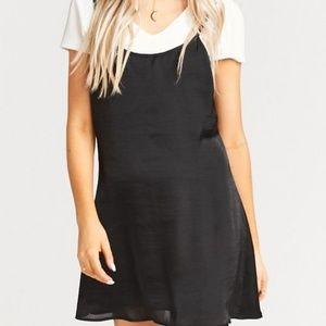 Show Me Your Mumu Stardust Mini Slip Black Dress